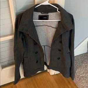Dark Gray Hurley Pea Coat w/Removable Hood